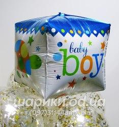 """Шарик кубик на выписку """"Baby Boy"""""""