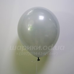 Серый гелиевый шарик