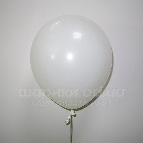Белый гелиевый шарик