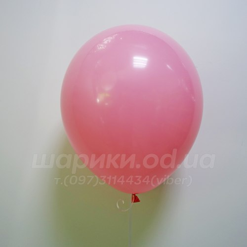 Розовый теплый гелиевый шарик