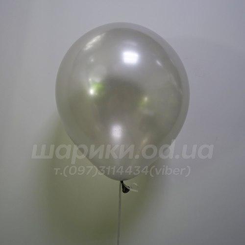 Серебряный гелиевый шарик