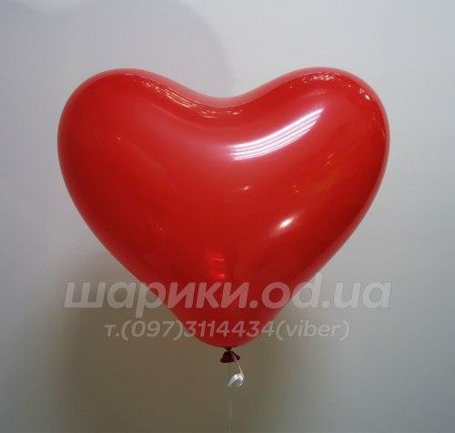 Шарик сердце красного цвета