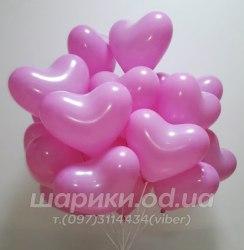 Шарик сердечко розовое