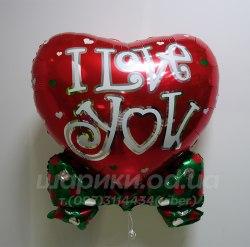 """Большое сердце шарик""""I Love You"""""""