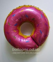 Шарик розовый пончик