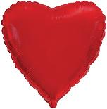 Шарик фольгированное красное сердце 40 см.