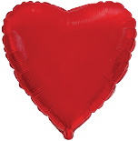 Фольгированное красное сердце 70 см.