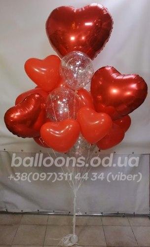 """Букет из воздушных шаров на 14 февраля """"Для Любимой!"""""""