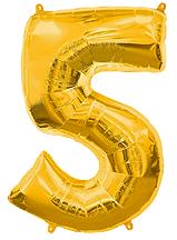 """Золотые фольгированные цифры""""50"""""""