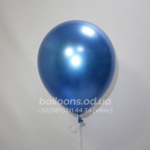 Шарик хром синий