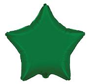 Фольгированная звезда зеленая 45 см