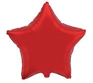 Фольгированная звезда красная 45 см