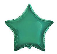Фольгированная звезда изумрудная 45 см