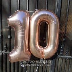 Цифра шарик 10