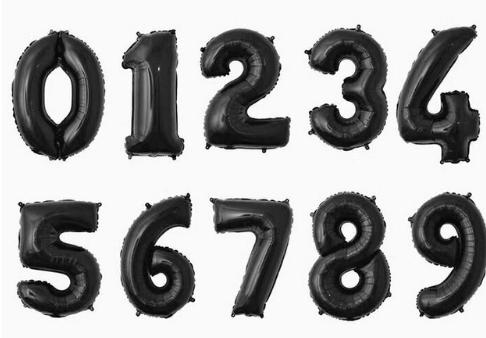 "Шарик цифра""5"""