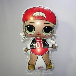 Фольгированный шарик кукла L.O.L.