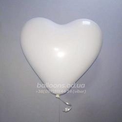 Шарик сердце белого цвета