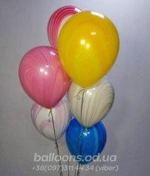 Шарики мраморные ( шарики агаты) Qualatex