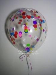 Прозрачный шарик с круглым конфетти