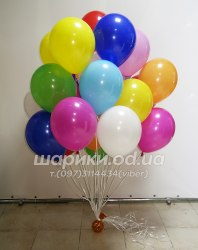"""Букет ярких гелиевых шариков """"25"""""""