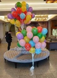 Разноцветные гелиевые шарики Эконом (25 см)