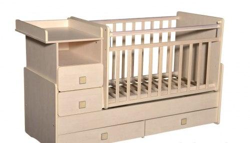 Детская кровать-трансформер Антел Ульяна-4 (слоновая кость)