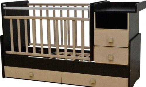Детская кровать-трансформер Антел Ульяна-4 (венге-клён)