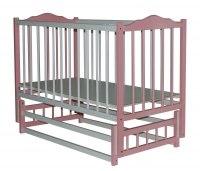 Детская кроватка Бамбини 11 (бело-розовая)