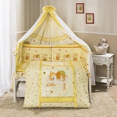 Постель детская Perina Ника (Мишка на подушке бежевый) 4 предмета