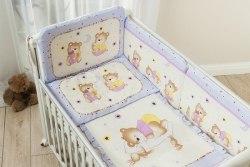 Постель детская Perina Ника (Мишка на подушке лиловый) 3 предмета