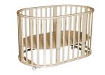 Детская кроватка Антел Северянка 3.1 (белый,слоновая кость,шоколад).