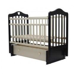 Детская кроватка Топотушки Оливия-7 (белый,слоновая кость,венге-слоновая кость)