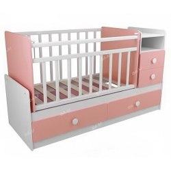 Детская кровать-трансформер ФА-Мебель Алеся (белый-розовый,белый-голубой,белый-лайм)