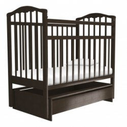 Детская кроватка Агат Золушка 4 (шоколад)
