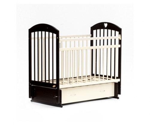 Детская кроватка Бамбини Комфорт 19 (тёмный орех-слоновая кость)
