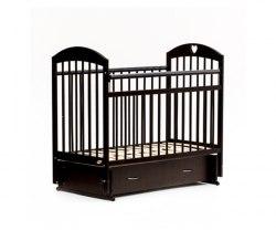 Детская кроватка Бамбини Комфорт 19 (тёмный орех)