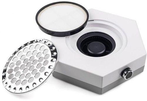 Вытяжка для маникюра с НЕРА фильтром на 80W, белая