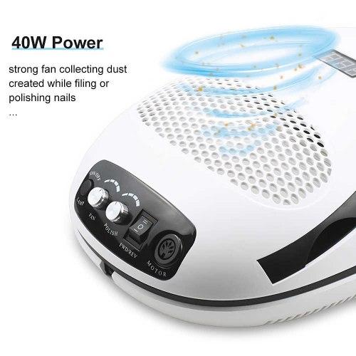 Аппарат для маникюра 3-в-1: фрезер, лампа, пылесос