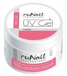 Прозрачный гель RuNail UV Gel clear (15гр). RuNail