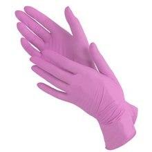 Перчатки Matrix Black Nitrile, размер S (6-7) нитриловые розовые (100шт.), Top Glove