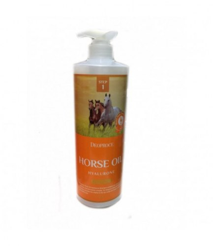 Шампунь с гиалуроновой кислотой и лошадиным жиром DEOPROCE HORSE OIL HYALURONE SHAMPOO 1000мл