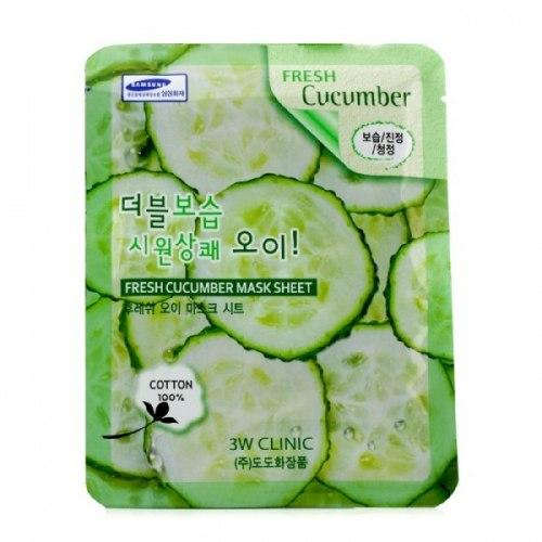 Тканевая маска ЗW CLINIC Fresh Cucumber Mask Sheet