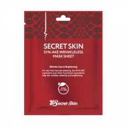 Маска для лица тканевая со змеиным ядом SECRET SKIN SYN-AKE WRINKLELESS MASK SHEET 20гр