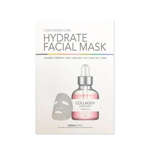 Набор тканевых масок для лица DERMAL 7 Days Facial Care Hydrate Facial Mask 7 pcs