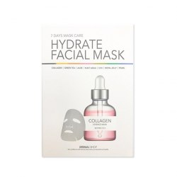 Набор тканевых масок для лица DERMAL 7 Days Facial Care Hydrate Facial Mask 7 pcs