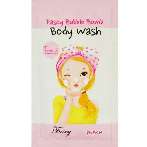 Гель для душа персиковый пробник FASCY Bubble Bomb Body Wash Peach