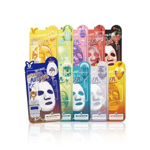 Тканевые маски для лица ELIZAVECCA A Power Ringer Mask Pack 23ml