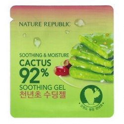 Гель с кактусом Пробник NATURE REPUBLIC Soothing & Moisture Cactus 92% Soothing Gel 1ml