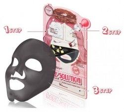 3-шаговая маска для проблемной кожи ELIZAVECCA 3-step pore solution mask pack 25мл/2*2мл.