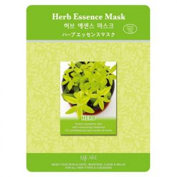 Маска тканевая с экстрактами лечебных трав MIJIN Herb Essence Mask 23гр
